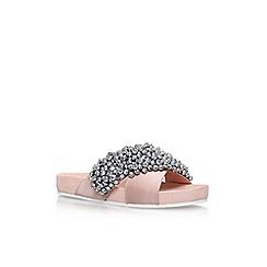 KG Kurt Geiger - Natural 'Magnus' flat sandals