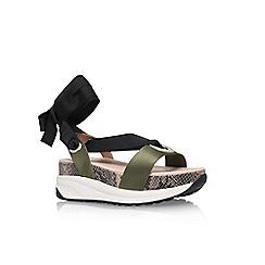 KG Kurt Geiger - Brown 'Newman' flat sandals