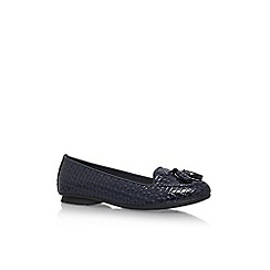 Solea - Blue 'Dalia' flat slip on pumps