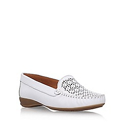 Carvela Comfort - White 'Cara' low heel loafer