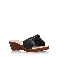 Carvela Comfort - Black 'Skate' high heel wedge sandals
