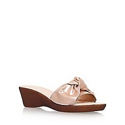 Carvela Comfort - Metallic 'Skate' high heel wedge sandals