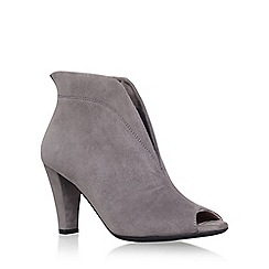 Carvela Comfort - Grey 'Rachel' mid heel open toe ankle boot