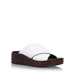 Carvela - White 'Klimb' Flat Sandals