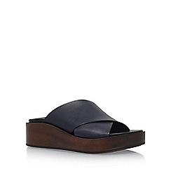 Carvela - Blue 'Klimb' high heel wedge sandals