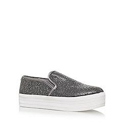 Carvela - Grey 'Lush' Flat Slip On Sneakers