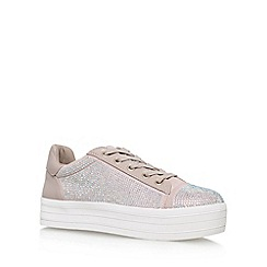 Carvela - Natural 'Leonie' Flat Lace Up Sneakers