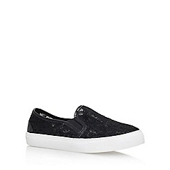 Miss KG - Black 'Kaitlyn' flat slip on sneakers