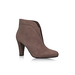 Solea - Grey 'Tegan' high heel ankle boots