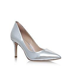 KG Kurt Geiger - Silver 'Bella' high heel court shoes