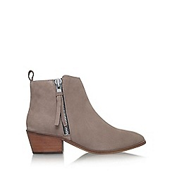 Carvela - Grey 'Shooter' Low Heel Ankle Boots