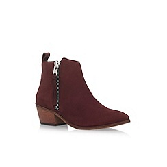 Carvela - Red 'Shooter' mid heel ankle boots