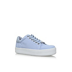 Carvela - Blue 'Loot' flat lace up sneakers