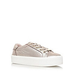 Carvela - Gold 'Lindon' Flat Lace Up Sneakers
