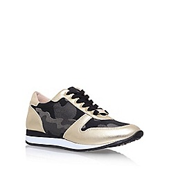 Carvela - Gold 'Libby' flat lace up sneakers