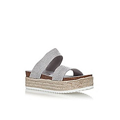 Carvela - Silver 'Kin' flat sandals
