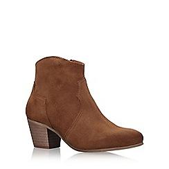KG Kurt Geiger - Brown 'Sunny' high heel ankle boots