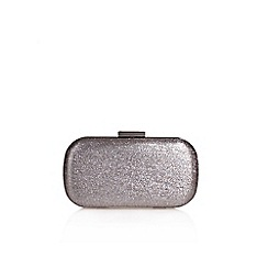 Miss KG - Grey 'Heat' clutch bag with shoulder chain