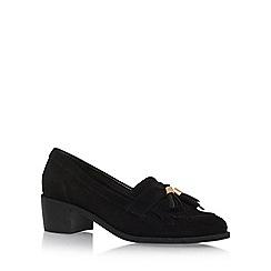 Carvela - Black 'Kalm' Mid Heel Slip On Loafers