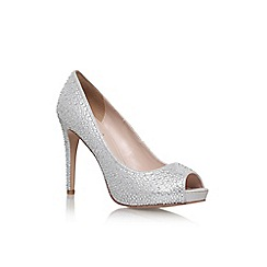 Carvela - Silver 'Lara' jewel high heel court shoe