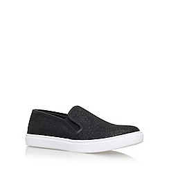 Carvela - Black 'Jumo' flat slip on sneakers