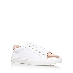 Carvela - White 'Jacko' Flat Lace Up Sneakers