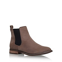 Miss KG - Brown 'Jensen' flat ankle boots