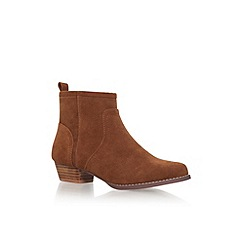 Miss KG - Brown 'Jan' low heel ankle boots