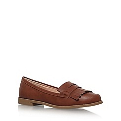 Miss KG - Brown 'Nina' Flat Slip On Loafers
