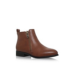 Miss KG - Brown 'Joel' flat ankle boots