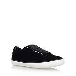 Carvela - Black 'Jet Flat' Lace Up Sneakers