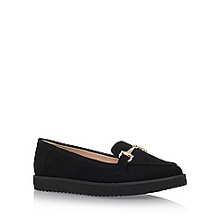 Carvela - Black 'Matrix' Flat Slip On Loafers