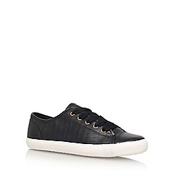 Miss KG - Black 'Kali' Flat Lace Up Sneakers