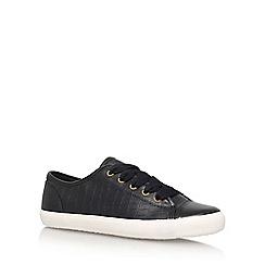 Miss KG - Black 'Kali' Flat Lace Up Sneakers