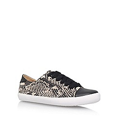 Miss KG - Brown 'Kali' Flat Lace Up Sneakers