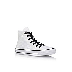 Converse - White 'Ct Amp Cloth Weave Hi' Flat Lace Up Sneakers