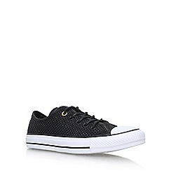 Converse - Black 'Ct Amp Cloth Weave Lw Flat' Lace Up Sneakers