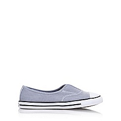 Converse - Blue 'Ct Chambray Cove Lw' Flat Slip On Sneakers