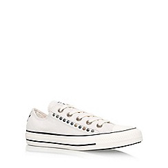 Converse - Cream 'Ct Hardware Eyerow Lw' Flat Lace Up Sneakers