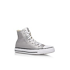 Converse - Silver 'Ct Metallic Canvas Hi' Flat Lace Up Sneakers