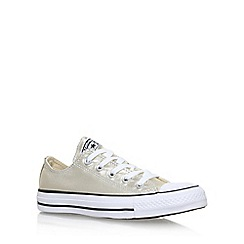 Converse - Gold 'Ct Metallic Canvas Low' Flat Lace Up Sneakers