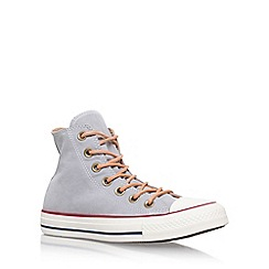Converse - Grey 'Ct Peached Canvas Hi' Flat Lace Up Sneakers