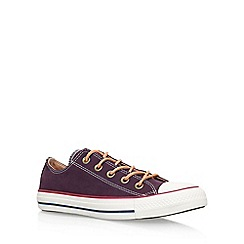 Converse - Red 'Ct Peached Canvas Low flat lace up sneakers
