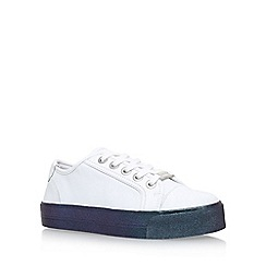 Carvela - White 'Largesse' Flat Lace Up Sneakers