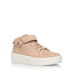 Carvela - Brown 'Linnet' Flat High Top Lace Up Sneaker