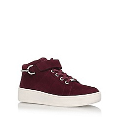 Carvela - Red 'Linnet' Flat High Top Lace Up Sneaker