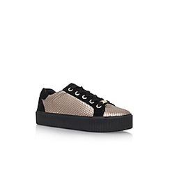 Carvela - Gold 'Lindon' Flat Lace Up Sneaker