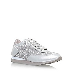 Carvela - Silver 'Lemmy' flat lace up sneakers
