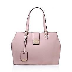 Carvela - Pink Mandy lock slouch tote handbag with shoulder straps