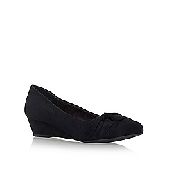 Miss KG - Black 'Carole' low heel wedge pumps